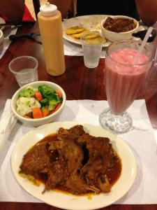 Rabbit Fricassee With A Strawberry Shake
