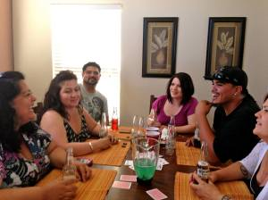 Atua, Cyndi, Peter Jr, Justine, Mick & Erica