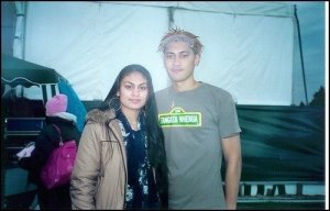 Aaradhna & Krit After A Guy Fawkes Gig [Backstage 2004]