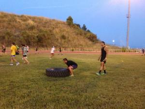 Sarah & Krit Being Heroes @ Afa's Rugby Training