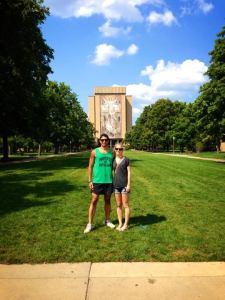 Krit, Laura & Touchdown Jesus [University Of Notre Dame]