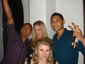Tone, Sara, Jess & Krit [Jess' 21st 2008]