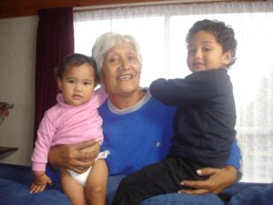 Aunty Anna With Great-Grandkids Bella & Angel