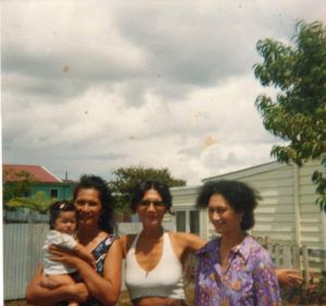 Aunty Tree Holding Leini, Aunty Naila & Mum