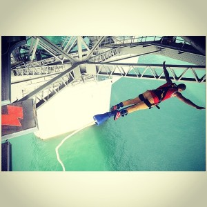 Victor Bungee Jumping Off The Harbour Bridge