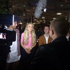 Krit, Georgie & Olly Being Interviewed After Winning The Trivia Battle