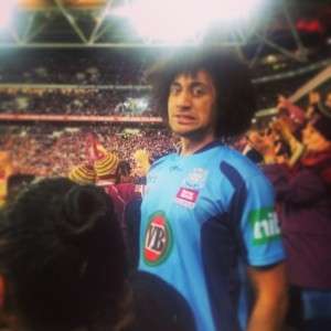Surrounded By Maroon!  State Of Origin, Game 3 [Brisbane]