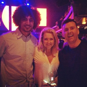 With Channel 10's Angela Bishop & Kiis FM's Intern Pete