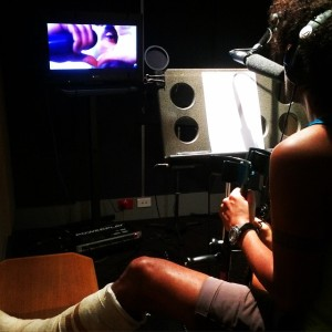Voiceover In The Recording Studio